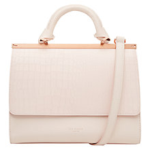 Buy Ted Baker Maven Leather Tote Bag, Baby Pink Online at johnlewis.com