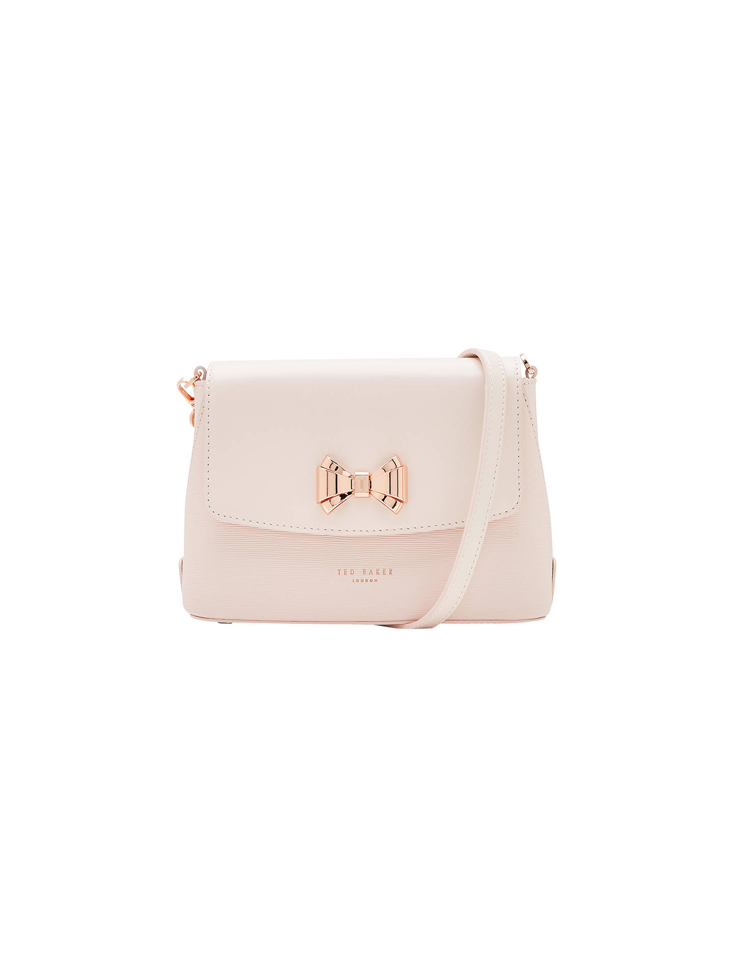 ee20c316f4fd Ted Baker Tessi Curved Bow Leather Across Body Bag at John Lewis ...