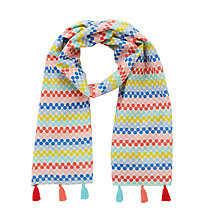 Buy John Lewis Girls' Spotted Tassel Scarf, Multi Online at johnlewis.com