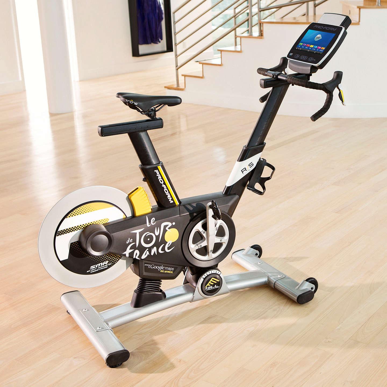 proform tour de france pro 5 0 indoor studio bike black white yellow at john lewis. Black Bedroom Furniture Sets. Home Design Ideas