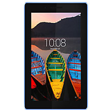 "Buy Lenovo TAB3 7 Essential Tablet, Quad-core Processor, Android, GPS, Wi-Fi Only, 7"", 1GB RAM, 8GB Hard Drive Online at johnlewis.com"