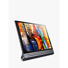 "Buy Lenovo Yoga TAB3 Pro Tablet, Android, Wi-Fi, 10"" QHD, 4GB RAM, 64GB Hard Drive, Puma Black Online at johnlewis.com"