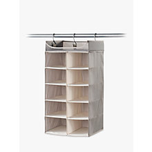 Buy neatfreak Twill 5 Shelf Double Hanging Organiser Online at johnlewis.com