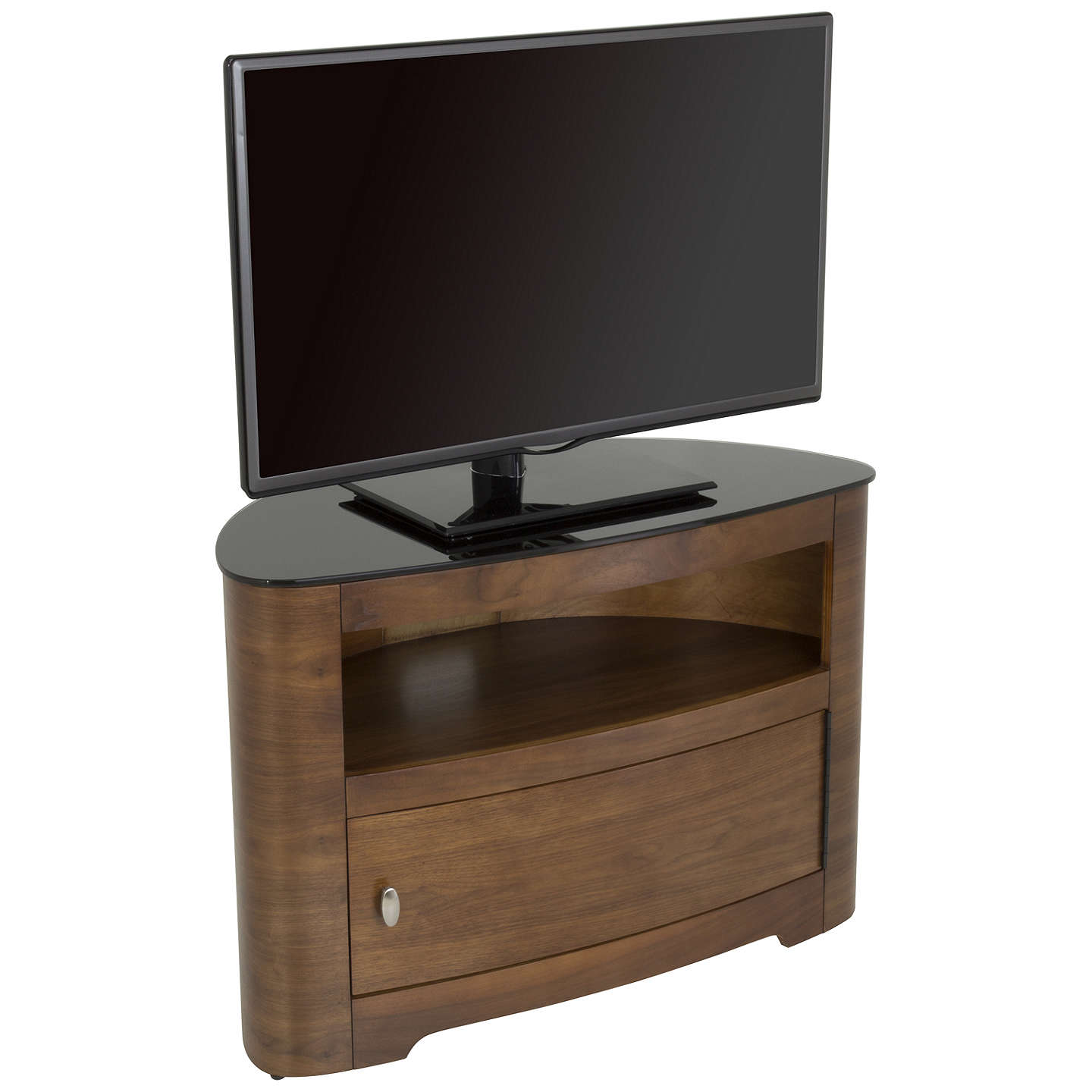 "BuyAVF Affinity Premium Blenheim 800 TV Stand for TVs up to 40"", Walnut Online at johnlewis.com"