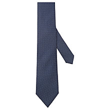 Buy Hackett London Geo Dot Silk Tie, Navy/White Online at johnlewis.com