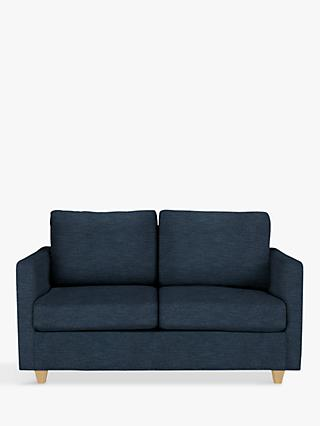 John Lewis & Partners Barlow Small 2 Seater Sofa Bed with Pocket Sprung Mattress, Erin Midnight