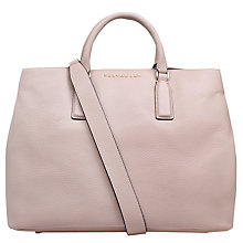 Buy Kurt Geiger Chelsea Saffiano Leather Tote Bag, Beige Online at johnlewis.com