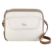 Buy Tula Nappa Originals Leather Small Across Body Bag, Ivory Online at johnlewis.com