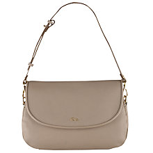Buy Tula Alpine Originals Medium Leather Flap Over Shoulder Bag, Beige Online at johnlewis.com
