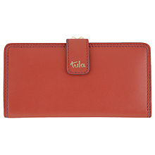 Buy Tula Bella Smooth Originals Leather Matinee Clip Frame Purse, Red Online at johnlewis.com