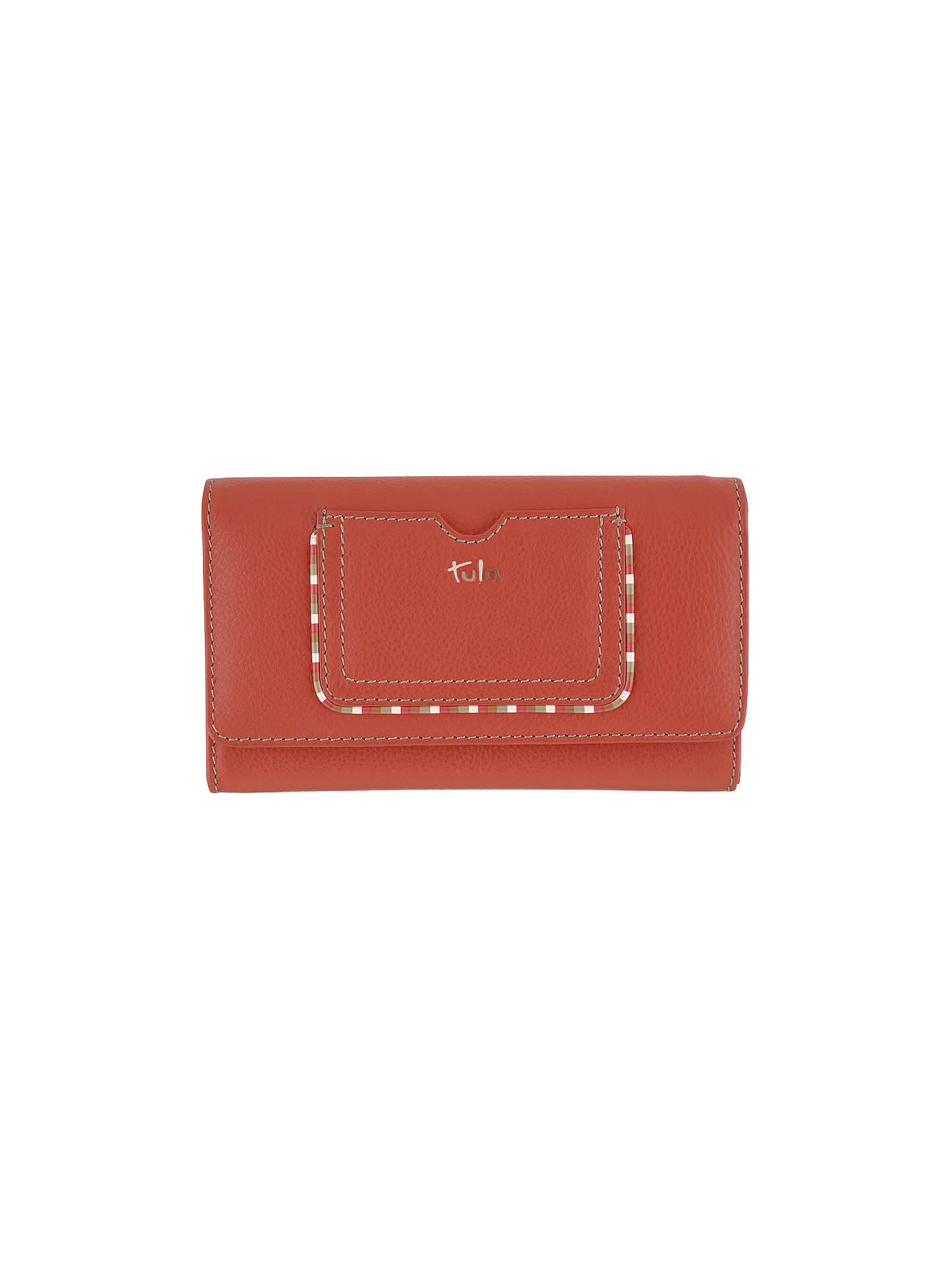 e0c9b2ba28c BuyTula Mallory Leather Large Flapover Matinee Purse, Red Online at  johnlewis.com ...