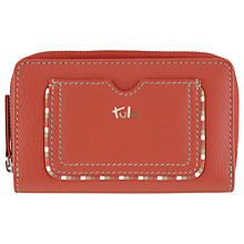 Buy Tula Mallory Leather Medium Zip Matinee Purse, Red Online at johnlewis.com