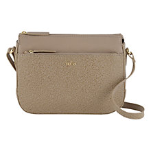 Buy Tula Rye Leather Across Body Bag, Beige Online at johnlewis.com