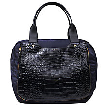 Buy Kurt Geiger Leather Mix Tote Bag, Black / Blue Online at johnlewis.com