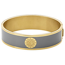 Buy Dyrberg/Kern Enamel Monogram Hinged Bangle, Gold/Grey Online at johnlewis.com
