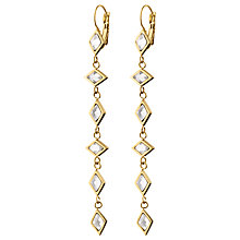 Buy Dyrberg/Kern Swarovski Crystal Hook Long Drop Earrings Online at johnlewis.com