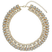 Buy John Lewis Stone Set Collar Necklace, Gold Online at johnlewis.com