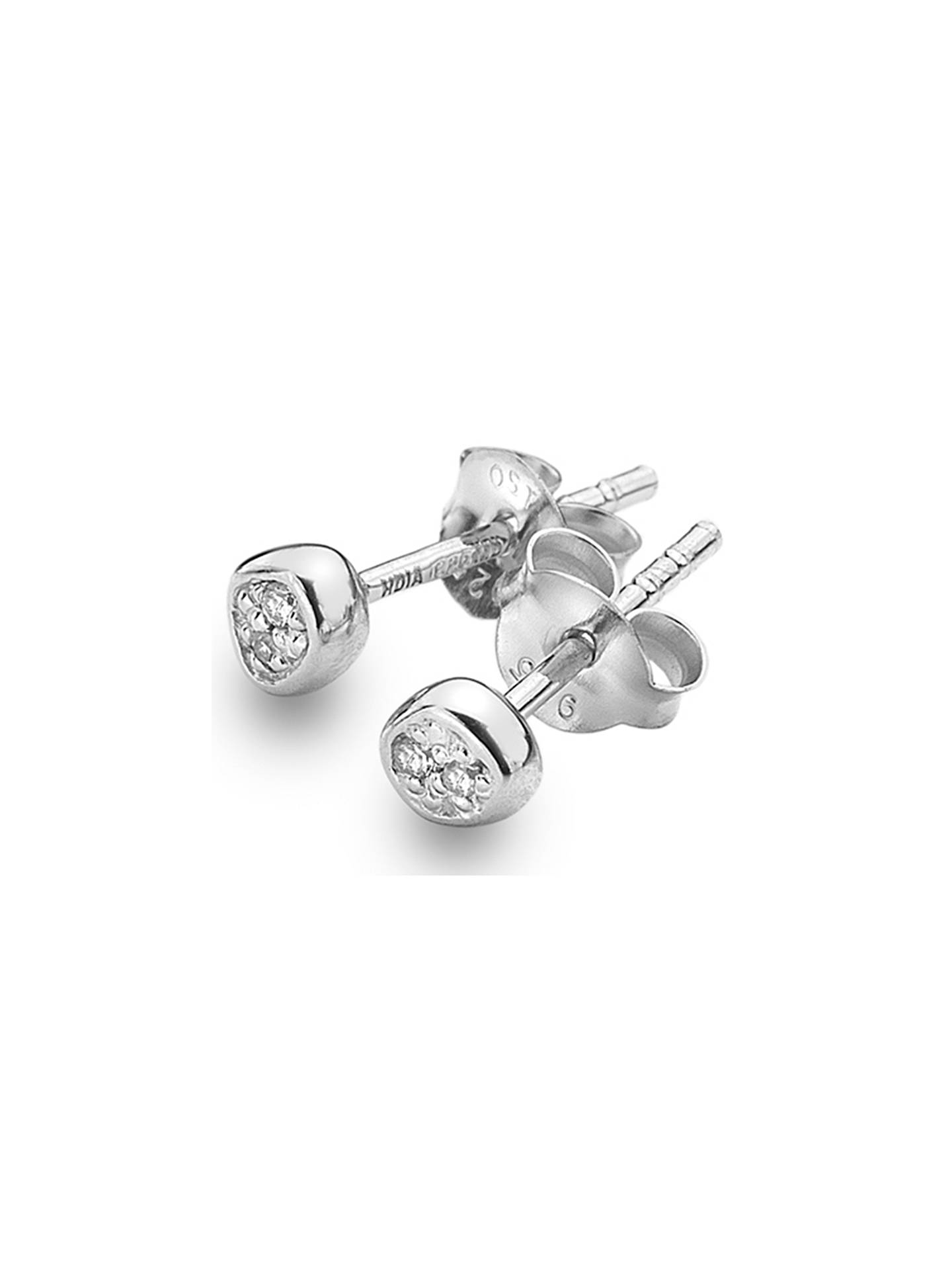 BuyHot Diamonds Diamond Stud Earrings, Silver Online at johnlewis.com