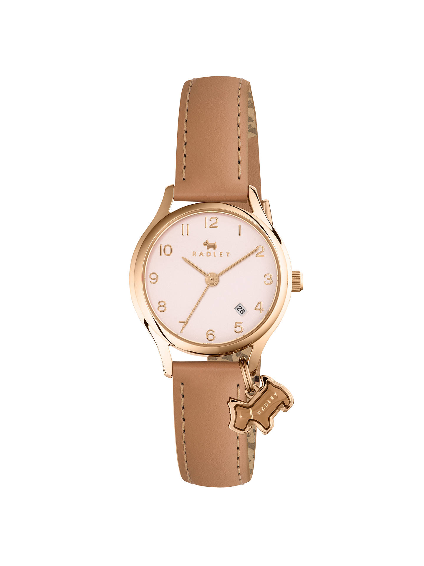 BuyRadley Women's Liverpool Street Mini Date Leather Strap Watch, Brown/Nude RY2452 Online at johnlewis.com