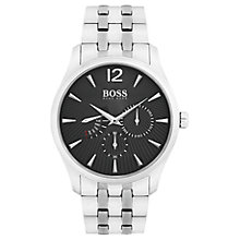 Buy HUGO BOSS 1513493 Men's Commander Day Bracelet Strap Watch, Silver/Black Online at johnlewis.com