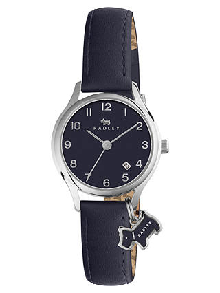 Buy Radley Women's Liverpool Street Mini Date Leather Strap Watch, Summer Fig RY2445 Online at johnlewis.com
