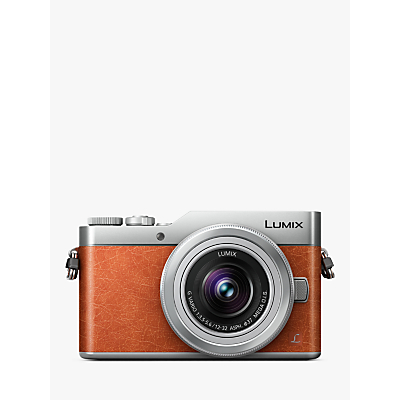 Image of Panasonic Lumix DC-GX800 Compact System Camera with 12-32mm Interchangeable Lens, 4K Ultra HD, 16MP, 4x Digital Zoom, Wi-Fi, 3 Tiltable LCD Touch Screen, Orange