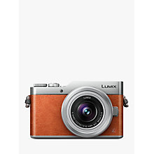 "Buy Panasonic Lumix DC-GX800 Compact System Camera with 12-32mm Interchangeable Lens, 4K Ultra HD, 16MP, 4x Digital Zoom, Wi-Fi, 3"" Tiltable LCD Touch Screen, Orange Online at johnlewis.com"