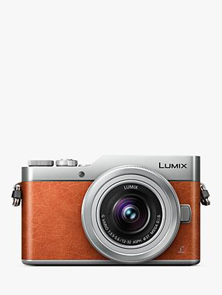 "Panasonic Lumix DC-GX800 Compact System Camera with 12-32mm Interchangeable Lens, 4K Ultra HD, 16MP, 4x Digital Zoom, Wi-Fi, 3"" Tiltable LCD Touch Screen, Orange"
