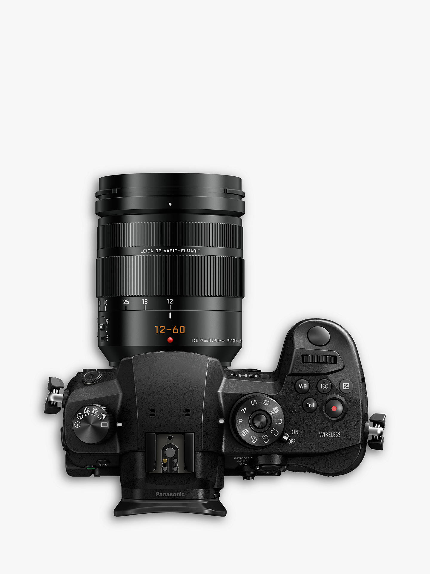 "Buy Panasonic Lumix DC-GH5 Compact System Camera with Leica 12-60mm O.I.S. Interchangeable Lens, 4K UHD , 20.3MP, Wi-Fi, OLED Live Viewfinder, 3.2"" LCD Vari-Angle Touch Screen Online at johnlewis.com"