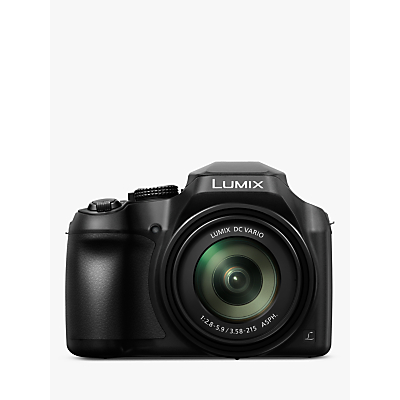 Panasonic Lumix DC-FZ82 Bridge Camera, 4K UHD, 18.1MP, 60x Optical Zoom, Wi-Fi, Live Viewfinder, 3 LCD Touch Screen