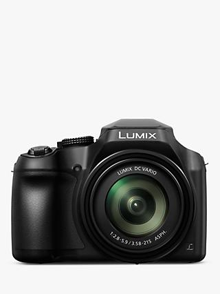 "Panasonic Lumix DC-FZ82 Bridge Camera, 4K UHD, 18.1MP, 60x Optical Zoom,  Wi-Fi, Live Viewfinder, 3"" LCD Touch Screen"