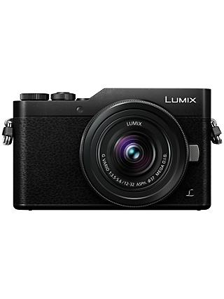 "Panasonic Lumix DC-GX800 Compact System Camera with 12-32mm Interchangeable Lens, 4K Ultra HD, 16MP, 4x Digital Zoom, Wi-Fi, 3"" Tiltable LCD Touch Screen"