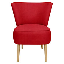 Buy John Lewis Twiggy Armchair, Light Leg, Bala Red Online at johnlewis.com