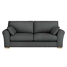 Buy John Lewis Leon Large 3 Seater Sofa, Dark Leg, Elena Charcoal Online at johnlewis.com
