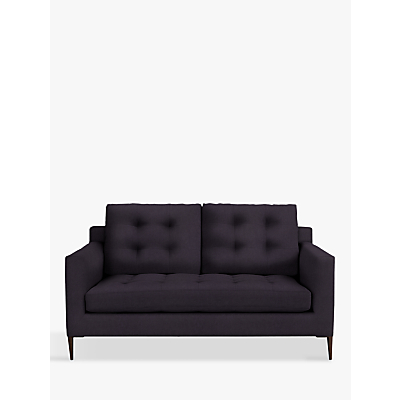 John Lewis Draper Medium 2 Seater Sofa, Dark Leg, Harriet Charcoal