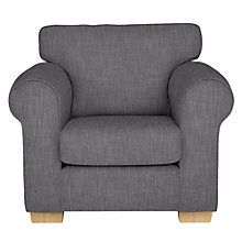 Buy John Lewis Milford Armchair, Light Leg, Amelia Graphite Online at johnlewis.com