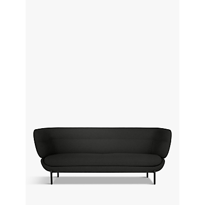 Doshi Levien for John Lewis Open Home Pondok Large 3 Seater Sofa, Black Leg