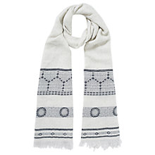 Buy Jacques Vert Jacquard Scarf, Multi/Blue Online at johnlewis.com