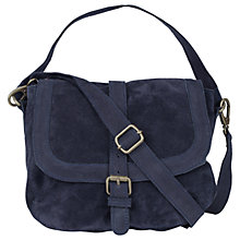 Buy Fat Face Suzie Suede Saddle Bag, Navy Online at johnlewis.com
