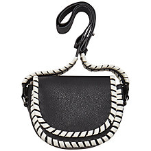 Buy French Connection Claudia Cross Body Bag, Black/Summer White Online at johnlewis.com