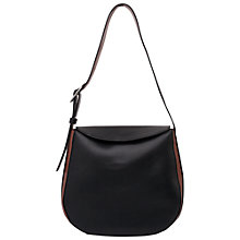 Buy French Connection Olivia Half Moon Bag, Black/Dark Tan Online at johnlewis.com