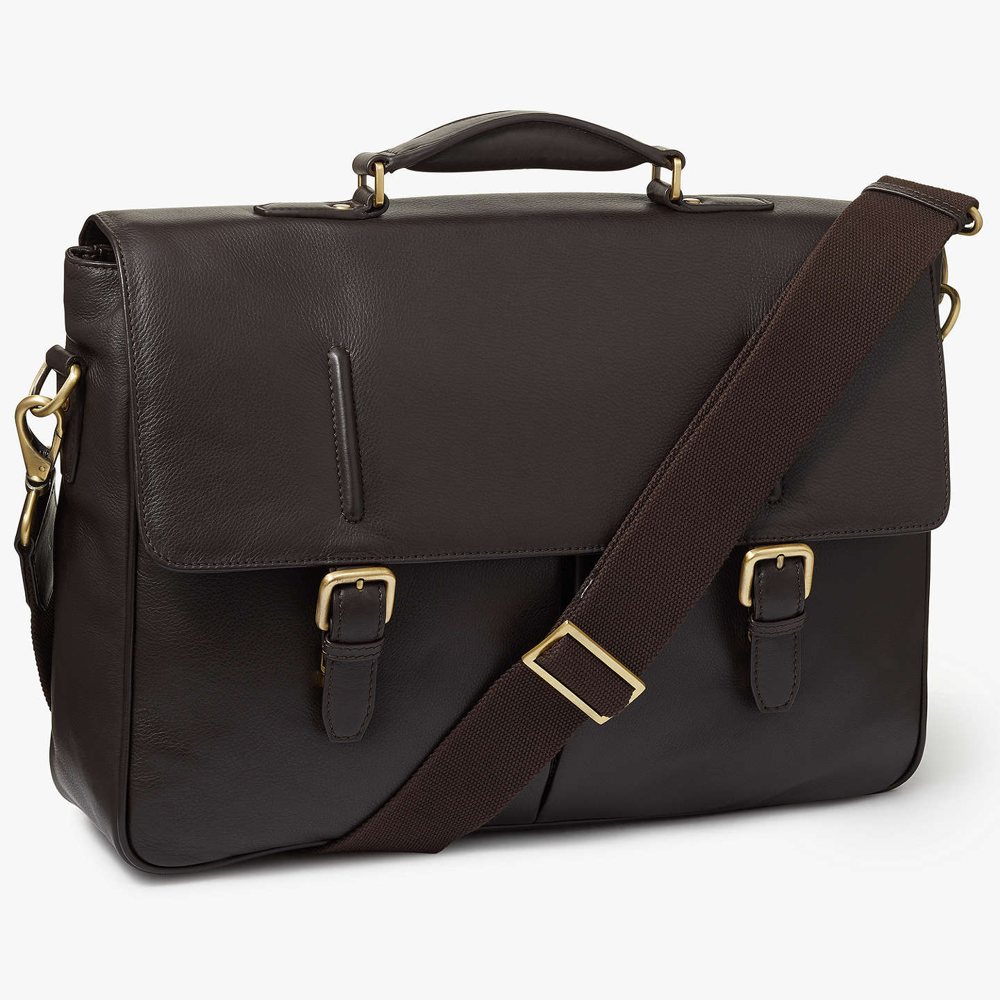 Buyjohn Lewis Salzburg Leather Briefcase, Brown Online At Johnlewiscom