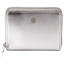 Buy Liebeskind Conny Leather Zip Around Purse, Silver Online at johnlewis.com
