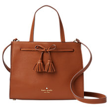 Buy kate spade new york Hayes Street Isobel Leather Small Tote Bag, Warm Cognac Online at johnlewis.com