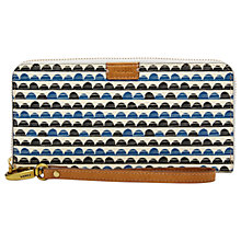 Buy Fossil Emma Large RFID Zip Clutch Purse, Blue Print Online at johnlewis.com