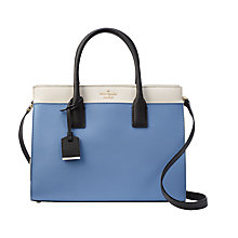 Buy kate spade new york Cameron Street Candace Leather Satchel, Tile Blue Online at johnlewis.com