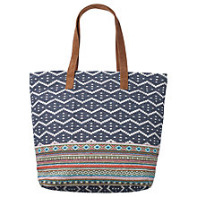 Buy Fat Face Tia Woven Shopper Bag, Blue Online at johnlewis.com