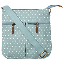 Buy Fat Face Canvas Across Body Bag, Green Spotty Online at johnlewis.com