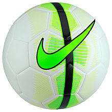 Buy Nike Mercurial Veer Football, Size 5, White/Electric Green Online at johnlewis.com