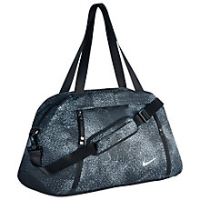 Buy Nike Aura Print Club Training Bag, Wolf Grey Online at johnlewis.com